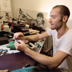 IN THE STUDIO WITH: Andrew Cardone—He's got the art of purse making in the bag